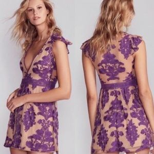 For Love & Lemons Temecula Embroidered Mini Dress